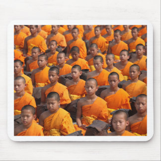 Large Group of Meditating Monks Mouse Pad