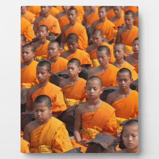 Large Group of Meditating Monks Plaque