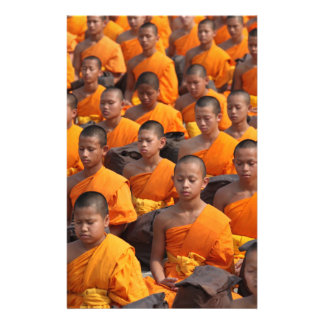 Large Group of Meditating Monks Stationery