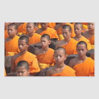 Large Group of Meditating Monks Sticker