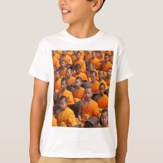 Large Group of Meditating Monks T-Shirt