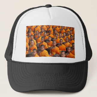 Large Group of Meditating Monks Trucker Hat
