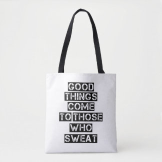 Large Gym Tote - Motivational Quote