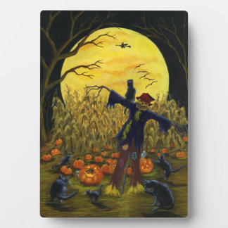 """Large Halloween easel backed art """"Jack's Place"""" Plaque"""
