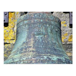 Large hanging metal bell postcard