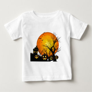 Large Haunted  House and Moon Tee Shirt