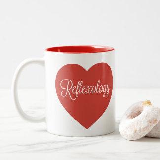 Large Heart Reflexology Mug