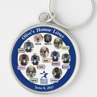Large Honor Litter Family Keychain