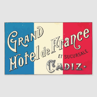 Large Hotel of France (Cadiz) Sticker
