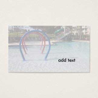 large in-ground swimming pool business card