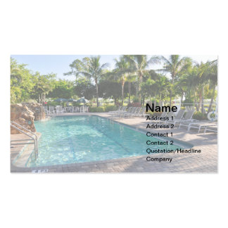 large inground swimming pool business card