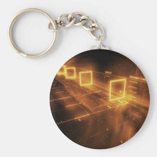 Large input logo keychain