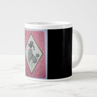 Large (jumbo) Coffee mug with poodle, dog picture