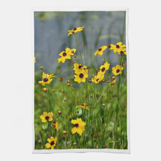 Large Kitchen Towel with Original Flower Print