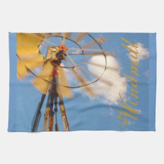 Large Kitchen Towel Wyoming Windmill