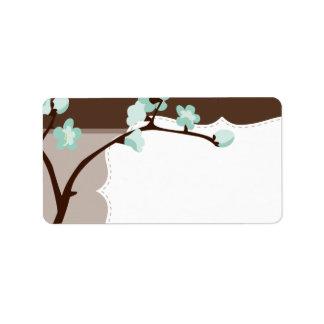 LARGE LABEL SEALS :: cherry blossoms 4L