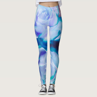 Large Lavender Rose Leggings