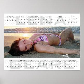 Large Lena geare 2010 calendar Poster