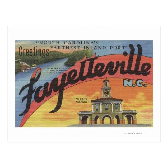 Large Letter Scenes - Fayetteville, NC Postcard
