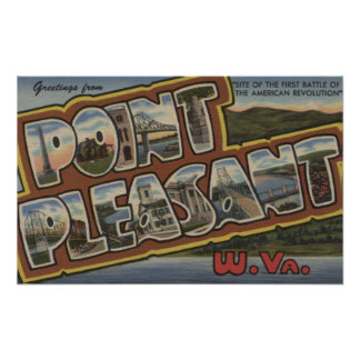 Large Letter Scenes - Point Pleasant, WV Poster