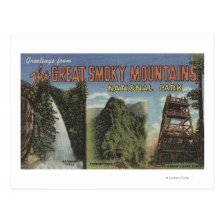 Large Letter Scenes - Smoky Mts. Nat'l Park, TN 2 Postcard