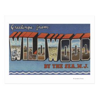 Large Letter Scenes - Wildwood-By-The-Sea, NJ Postcard