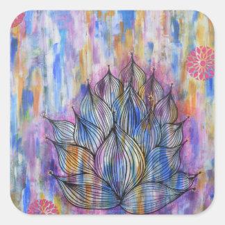 Large Lotus Flower Sticker