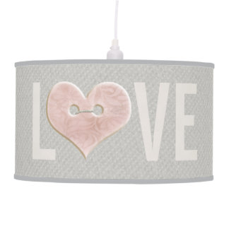 Large LOVE Type with Pink Heart | Lamp