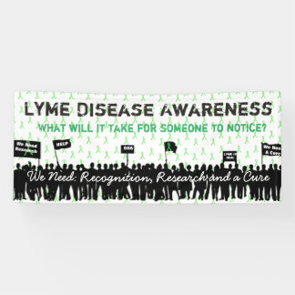 Large Lyme Disease Awareness Protest Sign Banner
