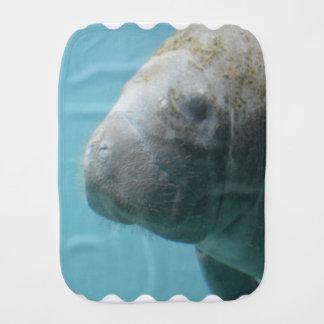 Large Manatee Underwater Baby Burp Cloths