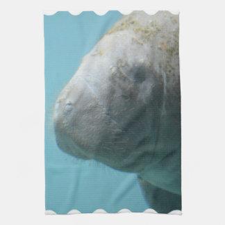 Large Manatee Underwater Kitchen Towel