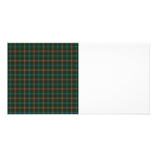 Large Manitoba tartan Personalized Photo Card