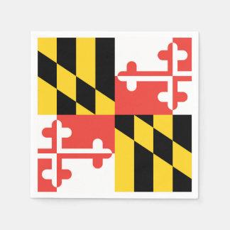 Large Maryland Flag Napkins Disposable Napkins