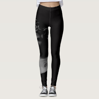 large medusa leg design for leggings