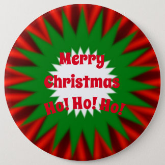 Large Merry Christmas 6 Inch Round Button