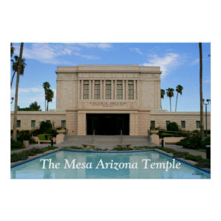 Large Mesa Arizona Temple Print