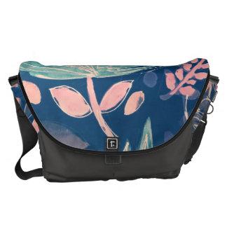 Large Messenger Bag, leaf print Commuter Bag