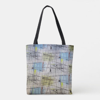 Large Mid Century Modern Print Tote