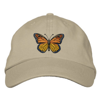 Large Monarch Butterfly Embroidery Embroidered Hat