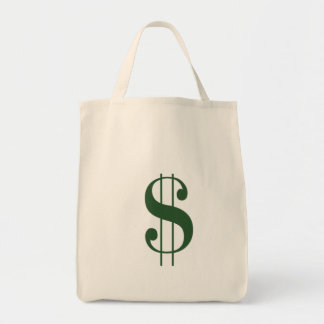 (Large $ Money Bag) Grocery Tote