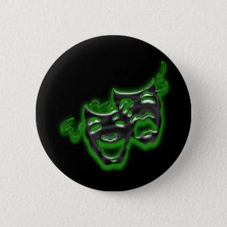 Large Neon Green Masks Mini Button
