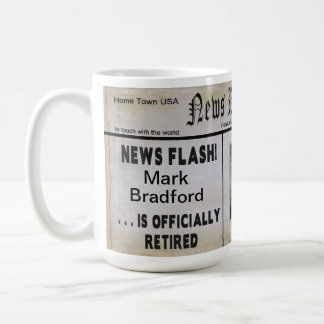 Large News Paper Retirement Mug - PHOTO INSERT
