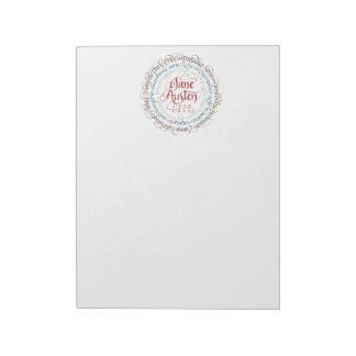 Large Notepad - Jane Austen Period Dramas - Vert.