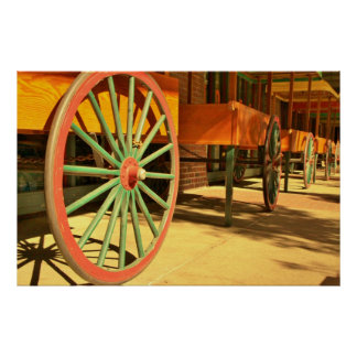 Large Old Fashioned Wagon Wheels Posters