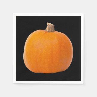 Large Orange Fall Harvest Pumpkin Paper Napkin