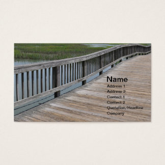 large outdoor wooden dock or pier business card