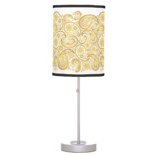 Large Paisleys in Gold - Standing Lamp 1