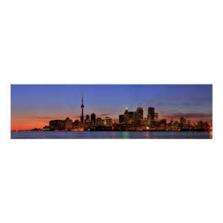Large Panorama of Toronto Canada Poster