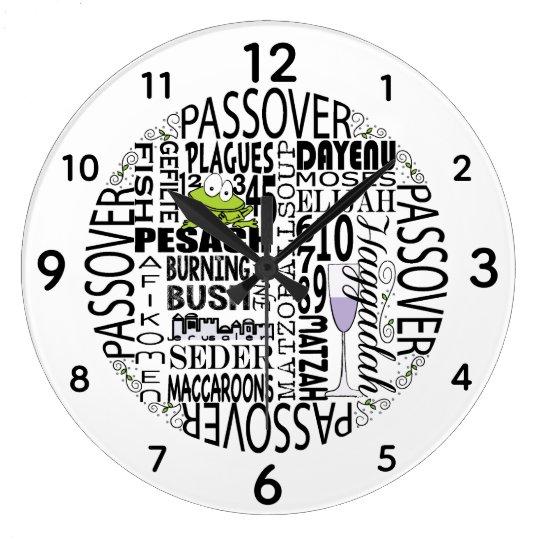 "Large Passover Round Clock ""Dayenu"""