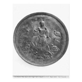 Large patera depicting a goddess postcard